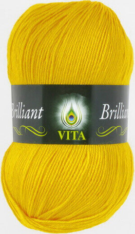 Пряжа Brilliant Vita 5112 Желтый фото
