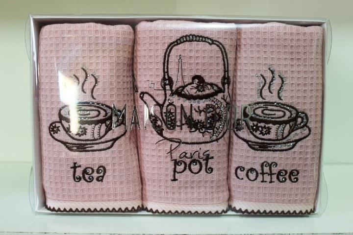 Кухонные полотенца Набор салфеток для кухни  WAFER TERRY - ВАФЕР ТЭРРИ  40х70  Maison Dor  Турция WAFER_TERRY__6_.JPG