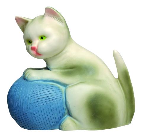 Ночник Котенок с голубым клубком (22см)