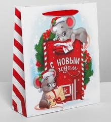 Пакет ламинированный вертикальный «Новогодняя почта», ML 23 x 27 × 8 см