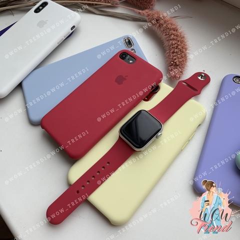 Ремешок Apple watch 38/40mm Sport Band /rose red/ малиновый