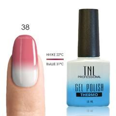 TNL, Термо гель-лак № 38 - розовая гвоздика/белый, 10 мл