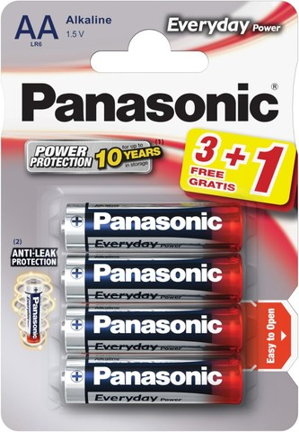 Батарейки Panasonic Everyday Power LR6, AA (4/48) BL