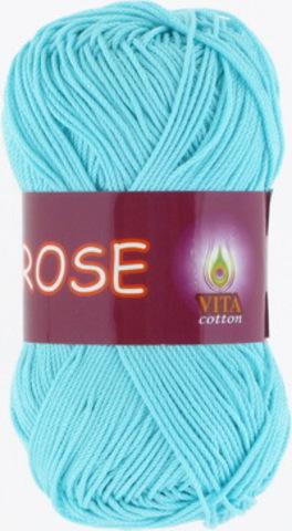 Пряжа Rose (Vita cotton) 3909 Светлая голубая бирюза
