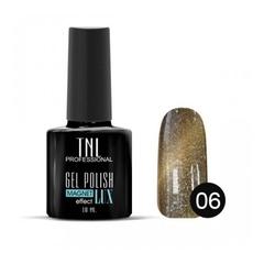 TNL, Гель-лак Magnet LUX №06 - медный с блестками, 10 мл