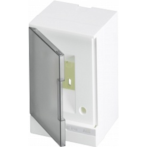 Бокс на стену Basic E 2-модуля прозрачная дверь. Цвет Белый. (без клемм) 120mm*180mm*102mm IP40. ABB. 1SZR004002A2200