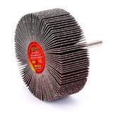 Круг MESSER шлифовальный лепестковый с оправкой (на шпильке) 80х30х6  #80