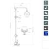 Душевая система с термостатом и тропическим душем для ванны GAUDI 3064G - фото №2