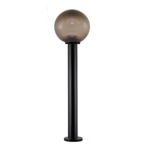 Садово-парковый светильник шар дымчатый призма D200mm с пластиковой опорой H1000mm