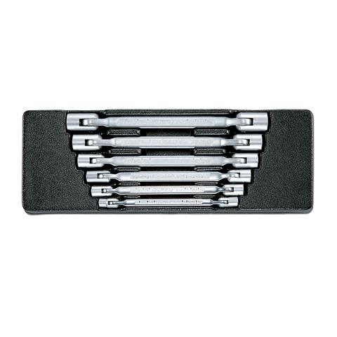 Набор двойных шарнирных ключей в ложементе, 6 предметов, HONITON IK-FSW0060C