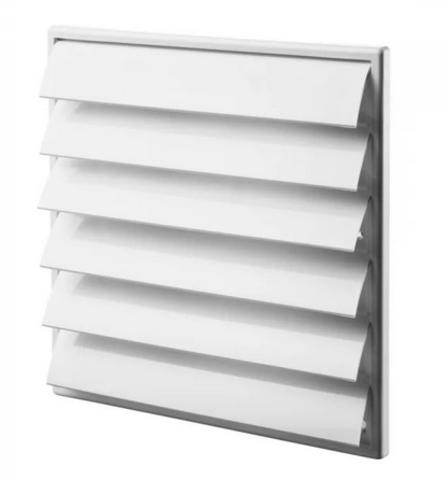 Решетка алюминиевая с гравитационными жалюзи (700х700) 7070 белый (белый)