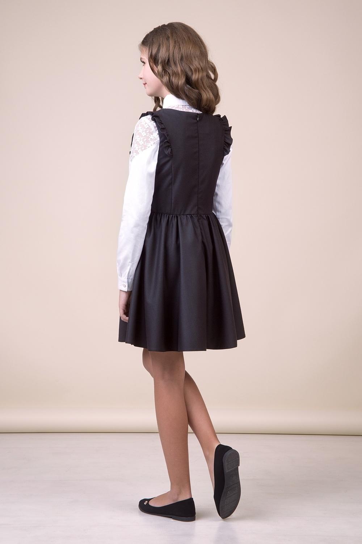 Сарафан черный для девочки 40-9007-1