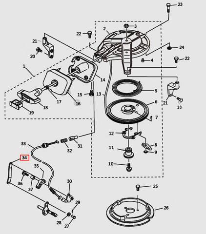 Скоба для лодочного мотора T9.8 Sea-PRO (7-34)