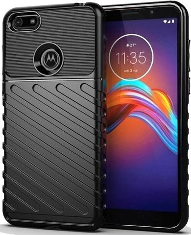 Чехол Motorola Moto E6 play цвет Black (черный), серия Onyx, Caseport