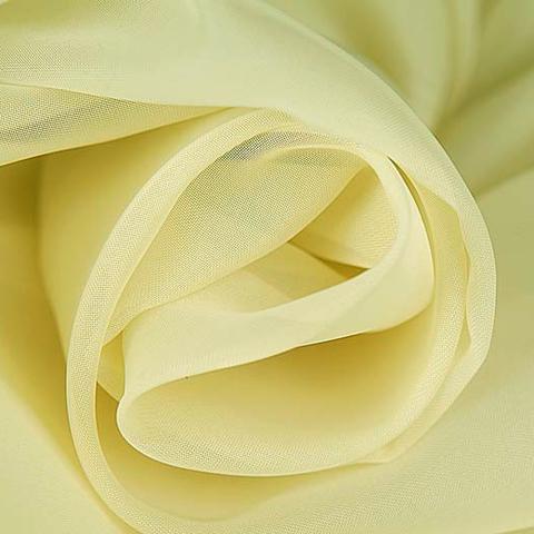 Вуаль для штор однотонная светло-желтая оптом. Высота - 280 см., 300 см. Арт. -А2