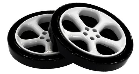 Пластиковые колеса для кровати-машины Браво Мебель