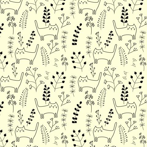 Котики на лугу