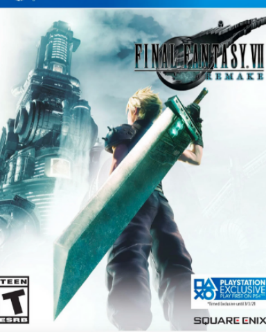Плакат игровой Final Fantasy VII Remake (А1)