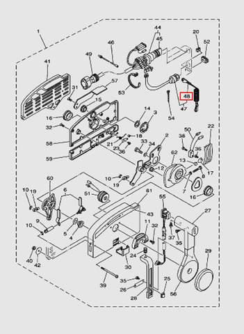 Трос аварийной остановки для лодочного мотора T40 Sea-PRO (28-48)