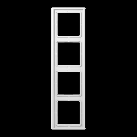 Рамка на 4 поста. Цвет Белый. JUNG LS 990. LS984WW