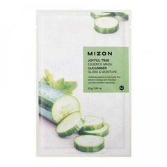 Mizon Joyful Time Essence Mask Cucumber - Тканевая маска для лица с экстрактом огурца