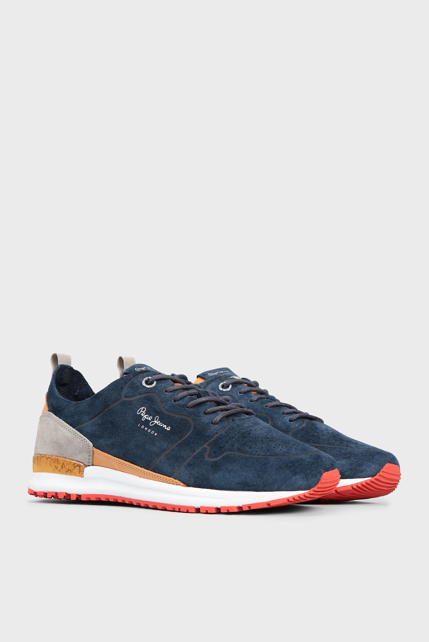 Мужские синие замшевые кроссовки Pepe Jeans