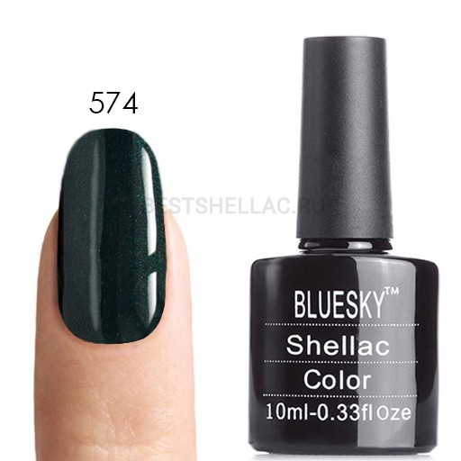 Bluesky Shellac 40501/80501 Гель-лак Bluesky № 40574/80574 Serene Green, 10 мл 574.jpg
