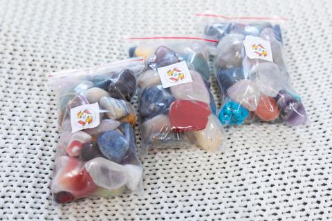 Набор самоцветов для аквариума 350гр (около 25 штук)