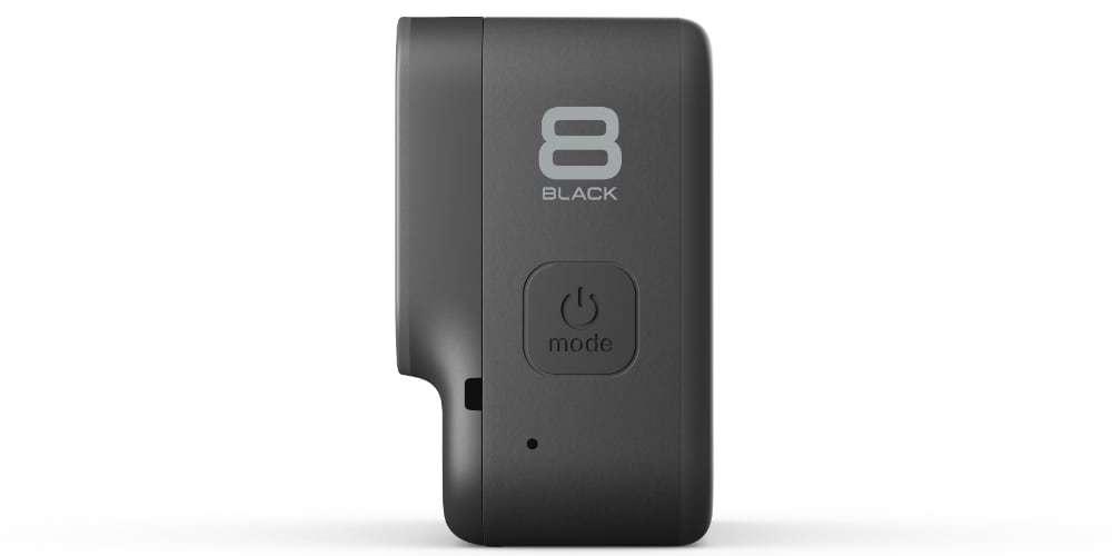 Видеокамера GoPro HERO8 Black Edition + SD Card сбоку
