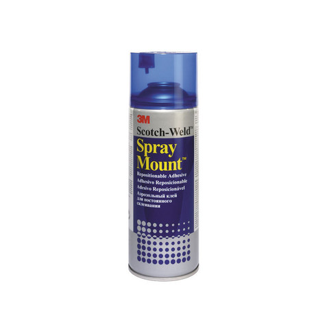 Клей-спрей 3M Spray Mount для обработки крупноформатных поверхностей 400 мл