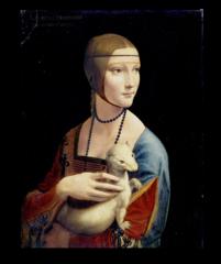 """Репродукция """"Леонардо Да Винчи - Дама с горностаем """""""