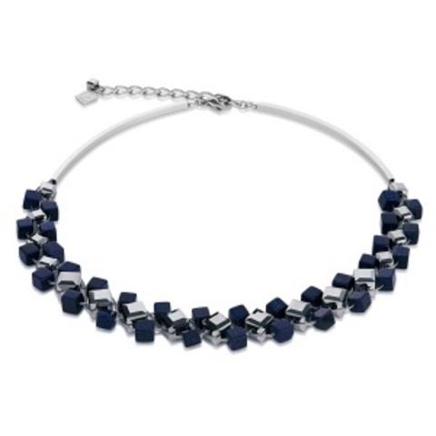 Колье Coeur de Lion 4886/10-0721 цвет серебряный, синий