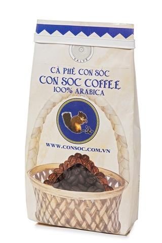 Вьетнамский зерновой кофе Con Soc Белочка Арабика, 200 гр.