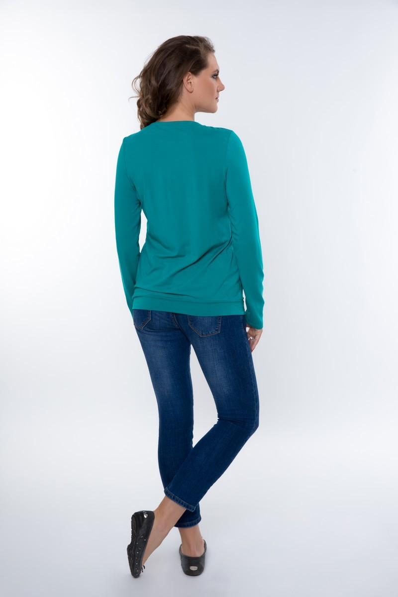 Блузка для беременных 01822 зеленый