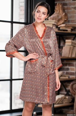 Короткий халат Mia-Amore 3363 SANDRA (70% шелк)
