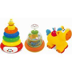 Kiddieland Набор развивающих игрушек (юла, пирамидка, каталка) (KID052894)