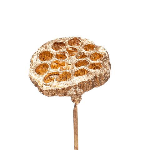Лотос на вставке 7*50 см, цвет: золотой
