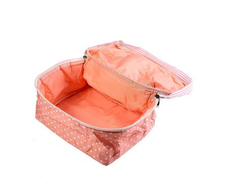 Мягкая сумка для мелких вещей, XS, 25*20*16 см (розовая в горошек)