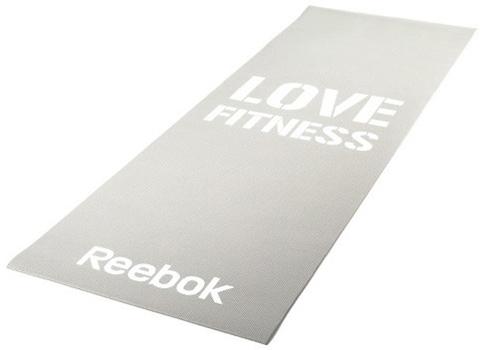 RAMT-11024GRL Тренировочный коврик (мат) для фитнеса тонкий Love(серый)