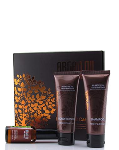 Дорожный набор, Argan Oil from Morocco (шампунь 75мл, кондиционер 75мл, масло арганы 30мл)