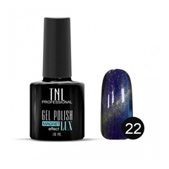 TNL, Гель-лак Magnet LUX №22 - синяя ночь с блестками, 10 мл