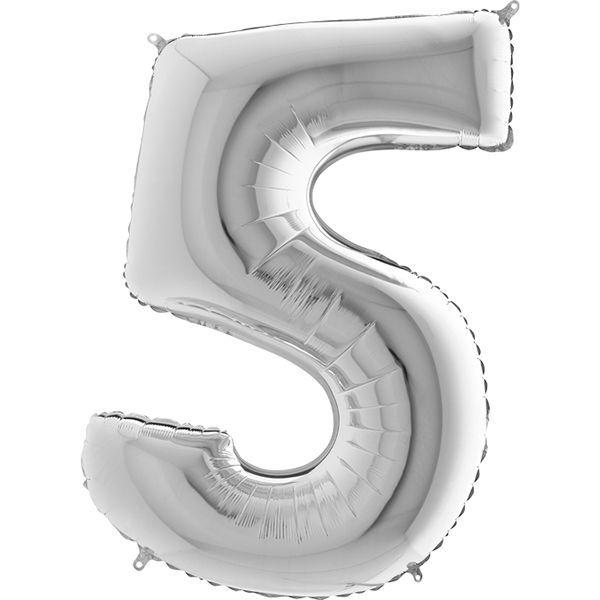 Шары цифры Шар цифра 5 Серебро 095s-number-5-silver.jpg