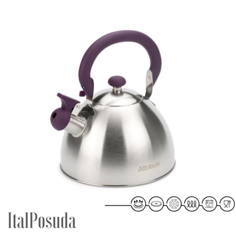 Чайник со свистком ATTRIBUTE FESTIVAL, 2.5 л