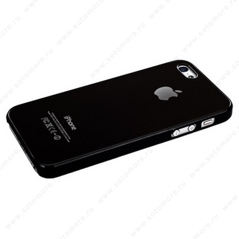 Накладка SGP металлическая для iPhone SE/ 5s/ 5C/ 5 кофейная с черной окантовкой