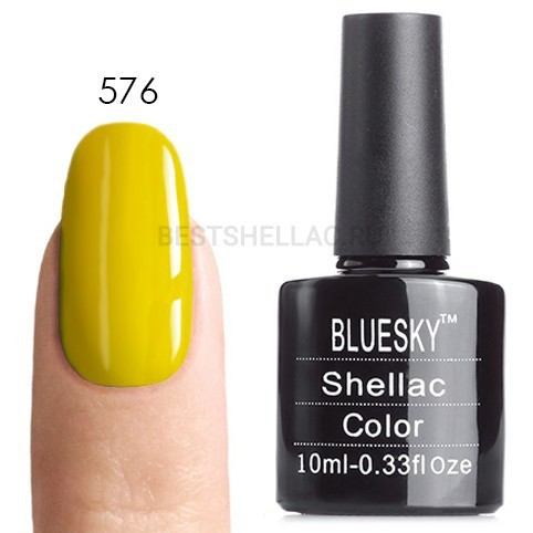 Bluesky Shellac 40501/80501 Гель-лак Bluesky № 40576/80576 Bicycle Yellow, 10 мл 576.jpg