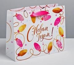 Пакет ламинированный горизонтальный «Нежного Нового года», MS 8 × 23 × 18 см