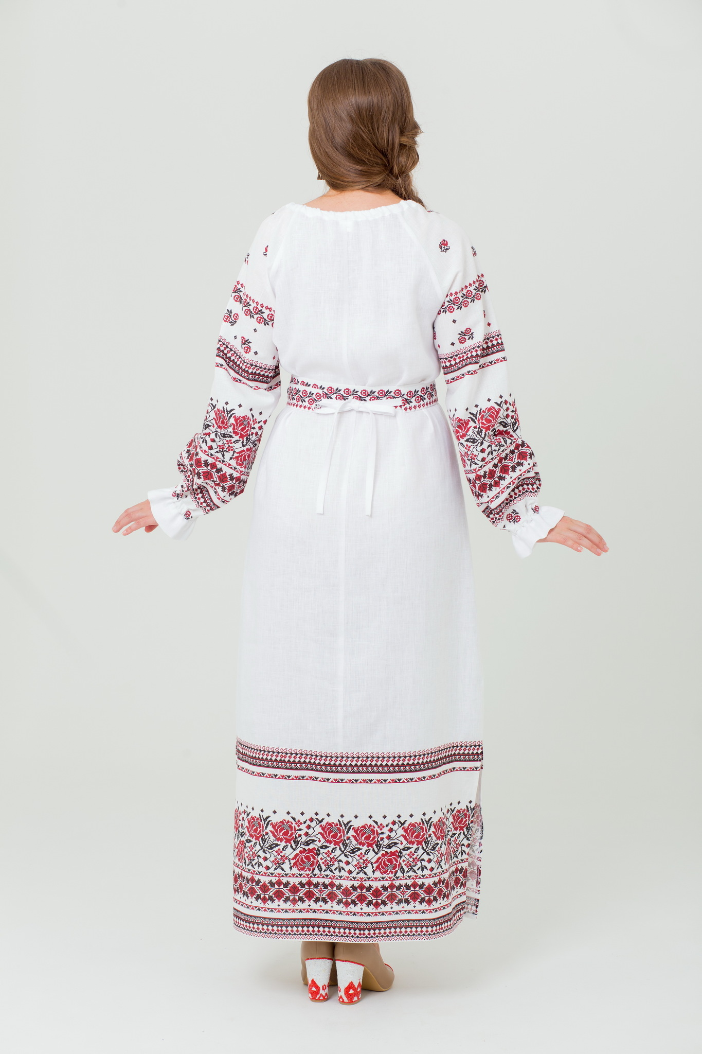 Платье славянское льняное Женское счастье