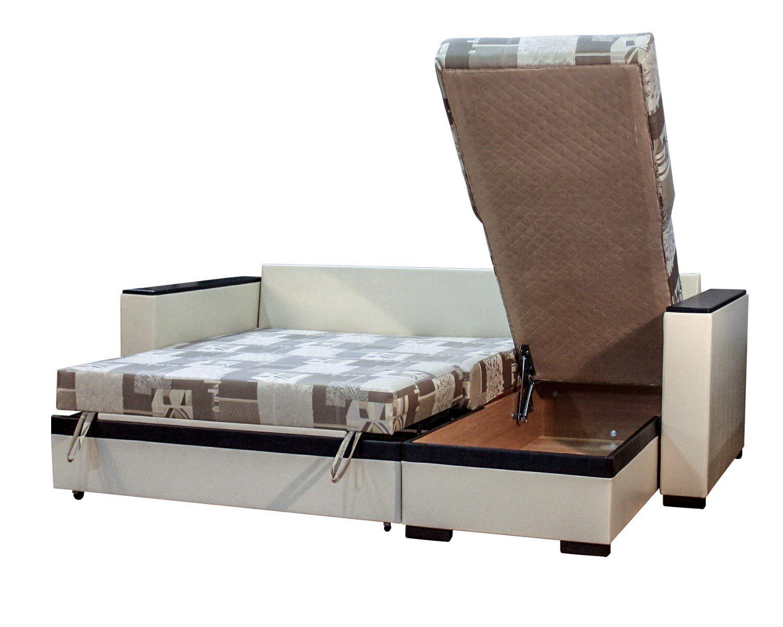 угловой диван-кровать Карелия-Люкс, ящик для белья