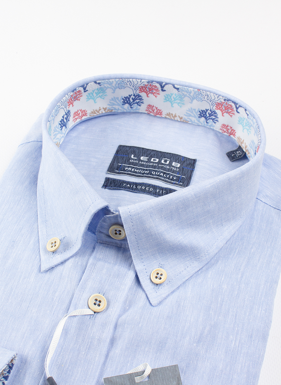 Рубашка Ledub tailored fit 0137946-130-910-450