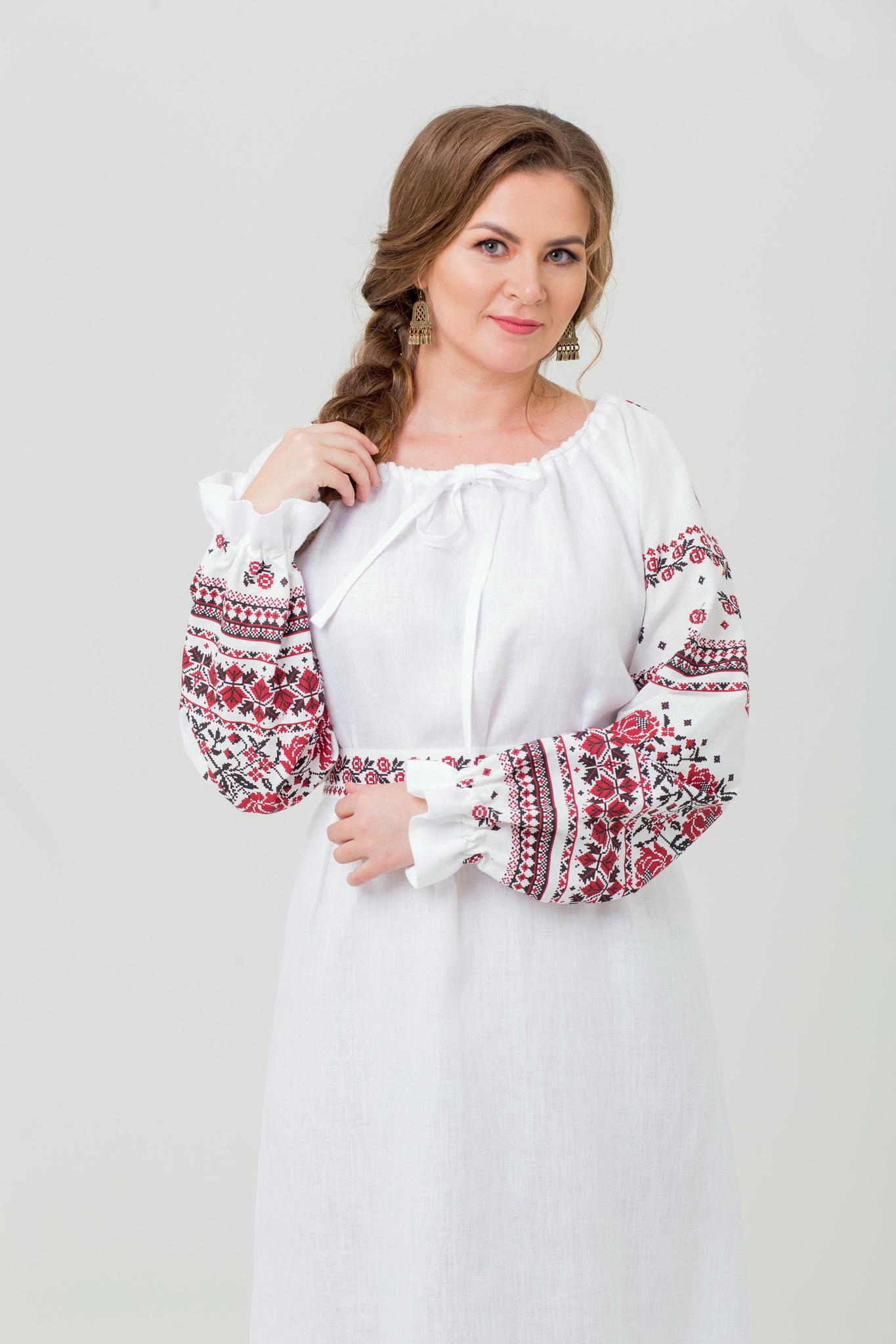 Платье Женское счастье из 100% льна с доставкой
